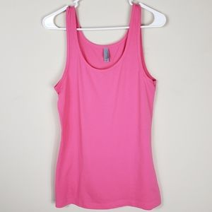 Next Level Apparel | Solid Pink Scoopneck Tank Top